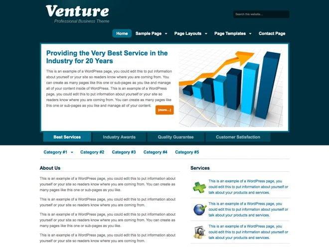 Venture ~ Genesis WordPress sablon