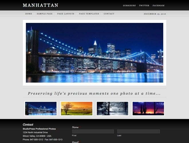 Manhattan ~ Genesis WordPress sablon