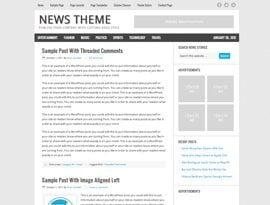 News kék ~ Genesis Prémium WordPress sablon