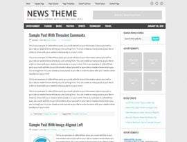 News teal ~ Genesis Prémium WordPress sablon