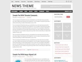 News vörös ~ Genesis Prémium WordPress sablon