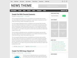 News zöld ~ Genesis Prémium WordPress sablon