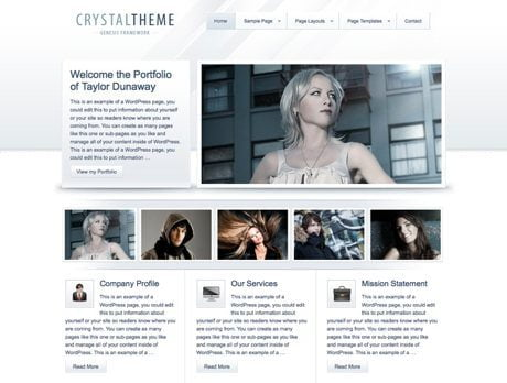 Crystal ~ Genesis WordPress sablon