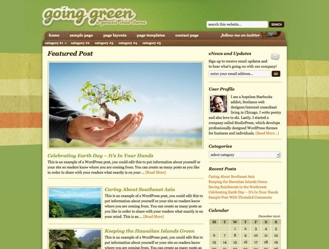 Going Green ~ Genesis WordPress sablon