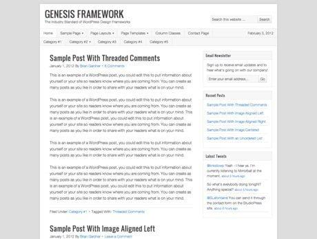 Genesis WordPress sablon
