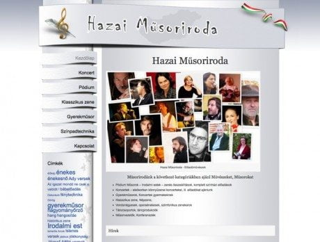 Hazai Műsoriroda ~ Prémium WordPress honlap