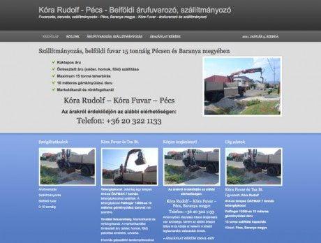 Kóra Fuvar ~ Prémium WordPress honlap