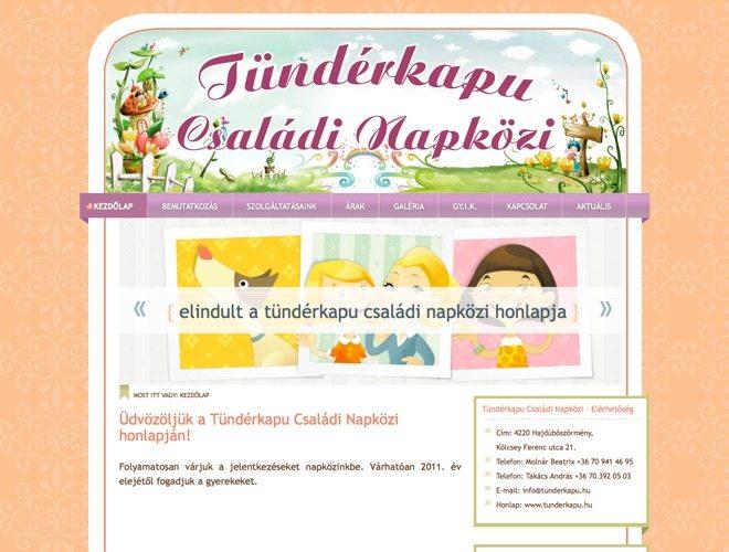 Tündérkapu ~ Prémium WordPress honlap