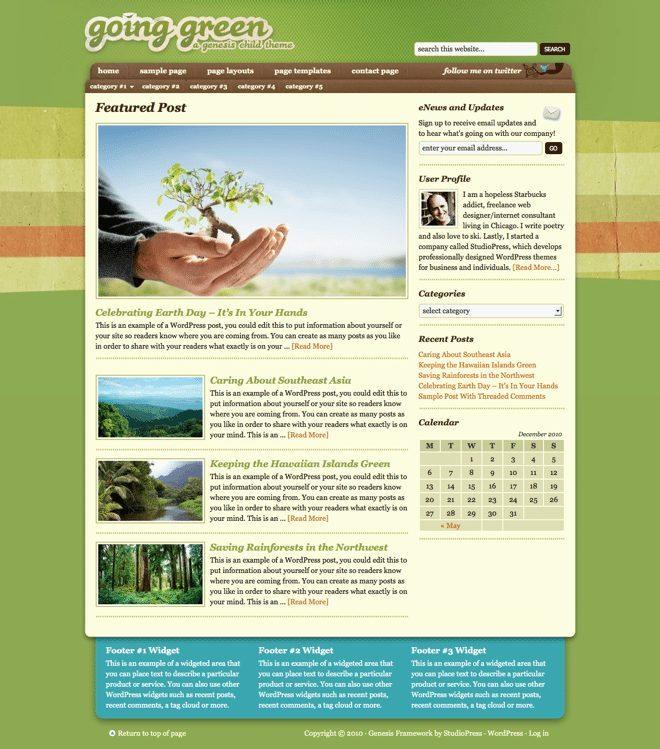 Going Green ~ Genesis WordPress sablon