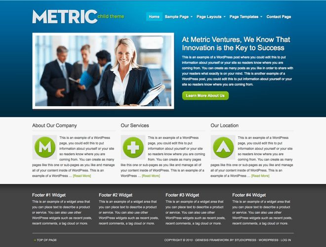 Metric ~ Genesis WordPress sablon