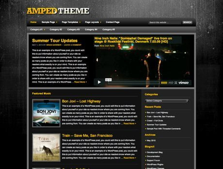 Amped ~ Genesis WordPress sablon