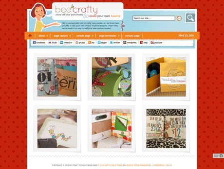 Bee Crafty ~ Genesis WordPress sablon