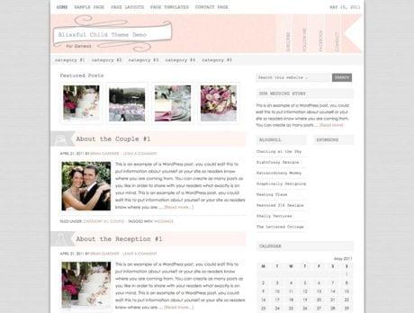 Blissful ~ Genesis WordPress sablon
