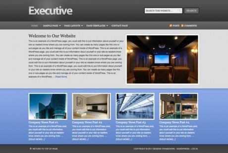 Executive ~ Genesis WordPress sablon