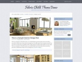 Fabric Blue ~ Genesis WordPress sablon