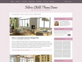 Fabric Pink ~ Genesis WordPress sablon