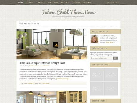 Fabric ~ Genesis WordPress sablon