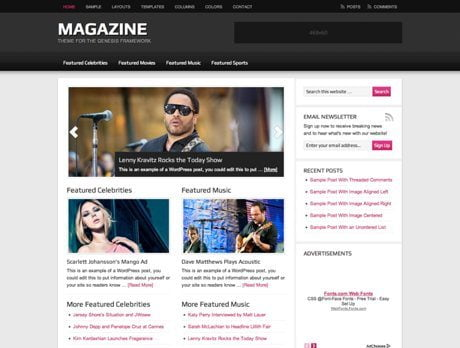 Magazine ~ Genesis WordPress sablon