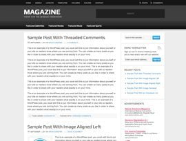 Magazine kék ~ Genesis WordPress sablon