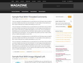 Magazine narancs ~ Genesis WordPress sablon