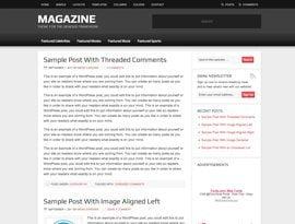 Magazine vörös ~ Genesis WordPress sablon
