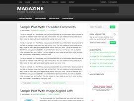 Magazine zöld ~ Genesis WordPress sablon