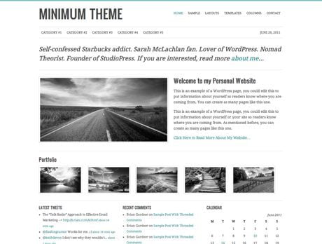 Minimum ~ Genesis WordPress sablon