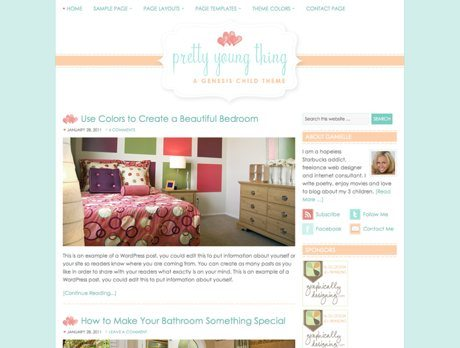 Pretty Young Thing ~ Genesis WordPress sablon