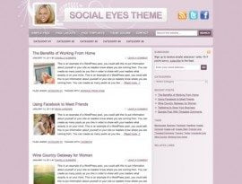 Social Eyes Pink ~ Genesis WordPress sablon