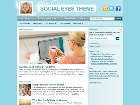 Social Eyes ~ Genesis WordPress sablon