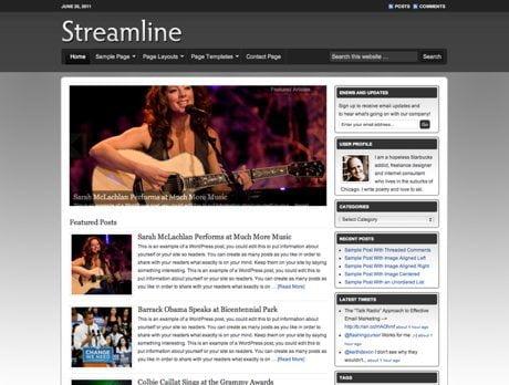 Streamline ~ Genesis WordPress sablon
