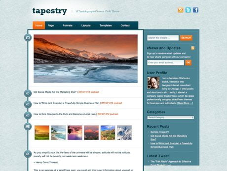 Tapestry ~ Genesis WordPress sablon