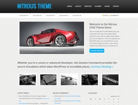 Nitrous ~ Genesis WordPress sablon