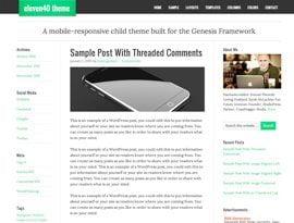 Eleven40 zöld ~ Genesis WordPress sablon